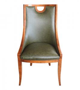 Silla acolchada en cuero, silla de salón 'Joyce'
