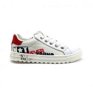 Sneaker bianca/rossa strett style Naturino