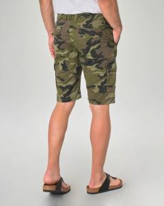 Bermuda cargo camouflage in gabardina di cotone