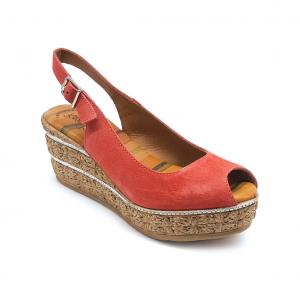Sandalo corallo Raquel Perez