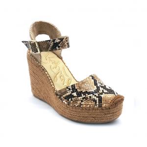 Sandalo pitone con zeppa corda Replay
