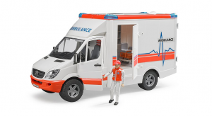 BRUDER 02536 - Ambulanza Mercedes-Benz Sprinter + Pers. (62710)