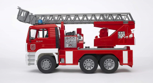 BRUDER 02771 - Autopompa Pompieri MAN + Lampeggianti (02801)