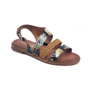 Sandalo pitone/raffia Mjus