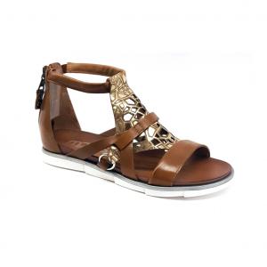 Sandalo biscotto/platino Mjus
