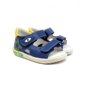 Sandalo azzurro/giallo Falcotto