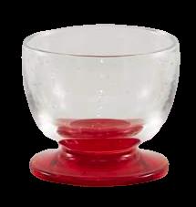 Coppa vetro soffiato trasparente rosso (6pz)