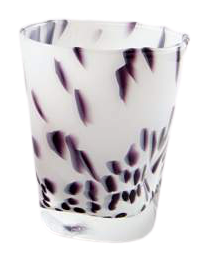 Bicchiere acqua Venezia bianco latte e graniglia colorata (12pz)