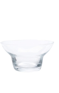 Glass blown Ice cream cup Transparent (6pcs)