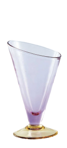 Eis Gläser Flieder Gelb (6 Stück)