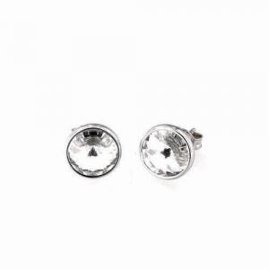 By Simon - Orecchini punto luce in argento e cristallo swarovski