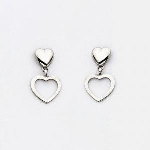 By Simon - Orecchini in argento a forma di cuore