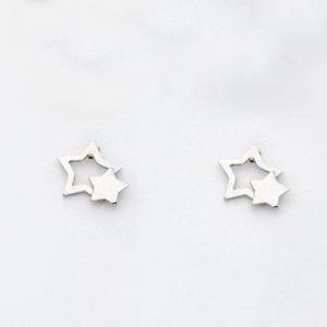 By Simon - Orecchini in argento a forma di doppia stella, art: 1101568