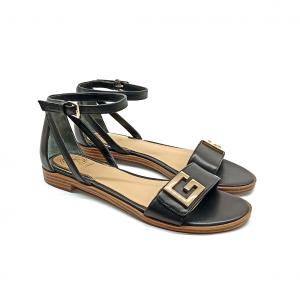 Sandalo nero con logo Guess