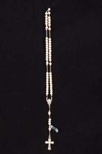 Rosario in argento diamantato