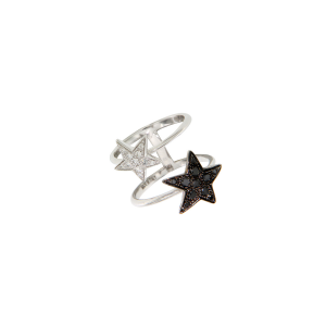 Bracciale Etoiles in oro bianco e diamanti neri