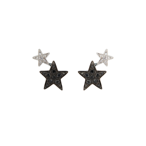 Anello Etoiles in oro bianco, diamanti bianchi e neri