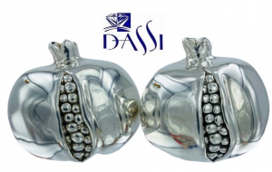 SET SALE E PEPE IN ARGENTO 925 A FORMA DI MELOGRANO.