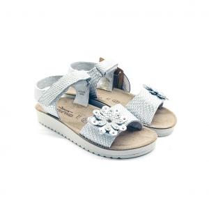 Sandalo bianco con fiore Grünland