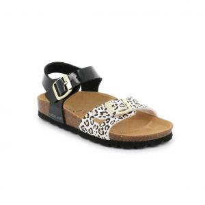 Sandalo nero/animalier Grünland