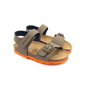 Sandalo tortora/arancio Grünland