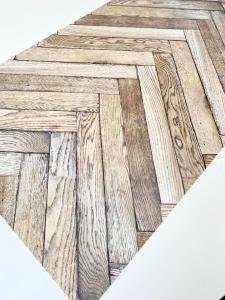 Tappeto in vinile effetto legno