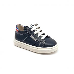 Sneaker blu con bandiera Nero Giardini