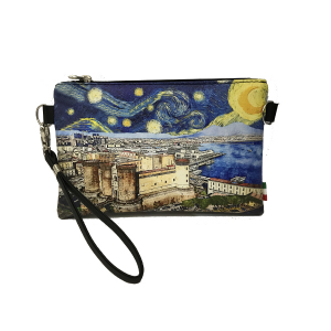 Artistic tourist line clutch bag