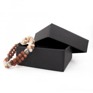 Bracciale elastico in Golden Stone e Metallo Brunito - DOUBLE - Seven