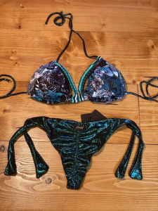 Bikini Triangolo e slip nodi Garden Effek Maglia M