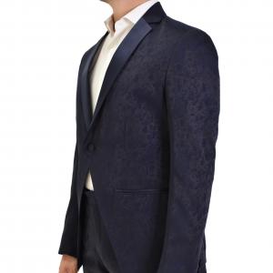 Abito Luxury Man blu fantasia