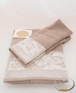 Coppia asciugamani jacquard Rose