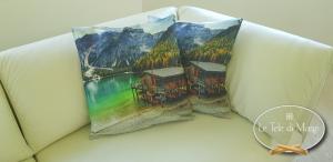 Fodera cuscino digitale 50 x 50 Lago di Braies