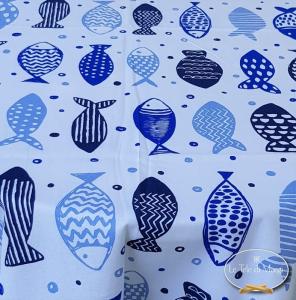 Tovaglia Pesciolini blu