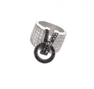 Orecchini  in oro bianco e diamanti neri