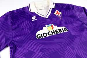 1991-92 Fiorentina Maglia match worn/issue #7 Mazinho XL (Top)