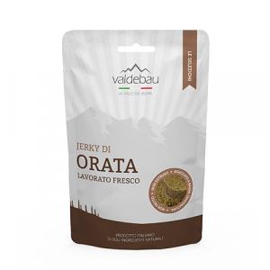 Snacks per cani, 92% essiccato di Orata, 90gr