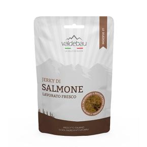 Snacks per cani, 92% essiccato di salmone, 90gr