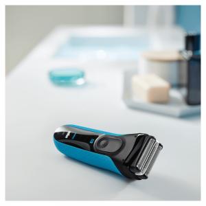 Braun Series 3 ProSkin 3040s Rasoio Barba Elettrico, Nero/Blu