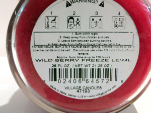 Candela Village Candle Wild Berry 170 ore