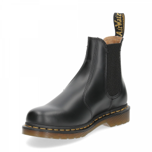 Dr. Martens Beatles Donna 2976 black smooth yellow stich-4