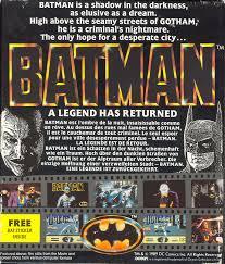 BATMAN THE MOVIE - IBM/AMSTRAD PC - FLOPPY 5