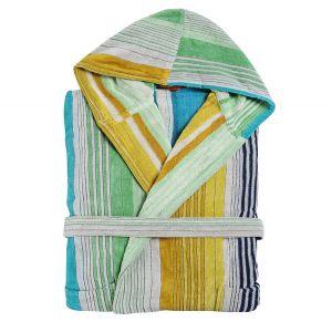 Missoni bathrobe with hood unisex terry SUNDAY 170