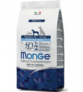 Monge - Natural Superpremium - Medium Puppy&Junior - 3 kg