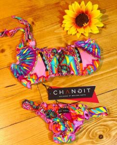 Bikini fascia monospalla e slip laccetto brasiliano fisso Miami Taglia LG