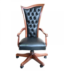 Sedia girevole per ufficio in stile