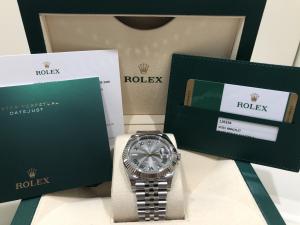 Rolex date just  126334 Wimbledon