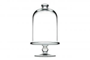 Alzata in vetro patisserie per dolci con campana cm.23,8h diam.12,8
