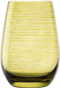 Set 6 bicchieri acqua Tumbler verde oliva Twister ml 465 cm.12h diam.8,5