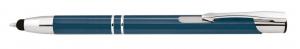 Penna alluminio petrolio con touch cm.14x1x1h